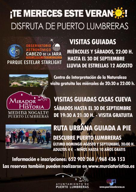 Vecinos y turistas podrán visitar de forma gratuita y guiada las casas cueva tematizadas de Puerto Lumbreras durante los sábados de agosto y septiembre - 1, Foto 1