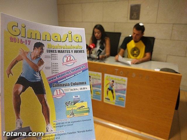 """La Concejalía de Deportes iniciará el programa de """"Gimnasia de mantenimiento para adultos"""" el próximo 15 de septiembre en el gimnasio de """"La Cárcel"""", Foto 1"""
