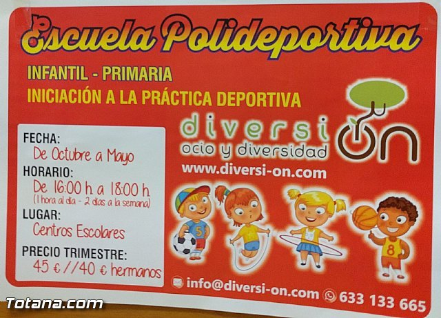 """Presentan el programa de """"Escuela Polideportiva"""" para el curso 2016/2017, Foto 2"""