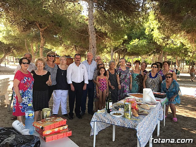 Municipal authorities close, with their visit, the program of trips to Cala del Pino 2017 - 2