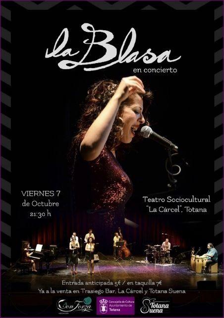 El concierto de La Blasa se celebrará mañana en el teatro del Centro Sociocultural La Cárcel, a partir de las 21:30 horas, Foto 1