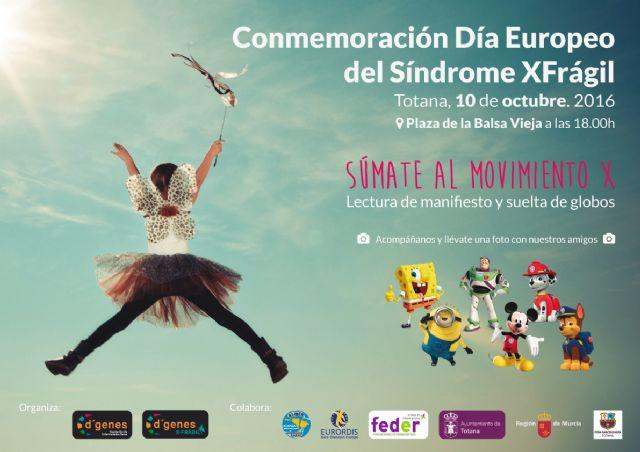 La plaza de la Balsa Vieja de Totana acogerá el próximo 10 de octubre un acto con motivo del Día Europeo del Síndrome X Frágil, Foto 1