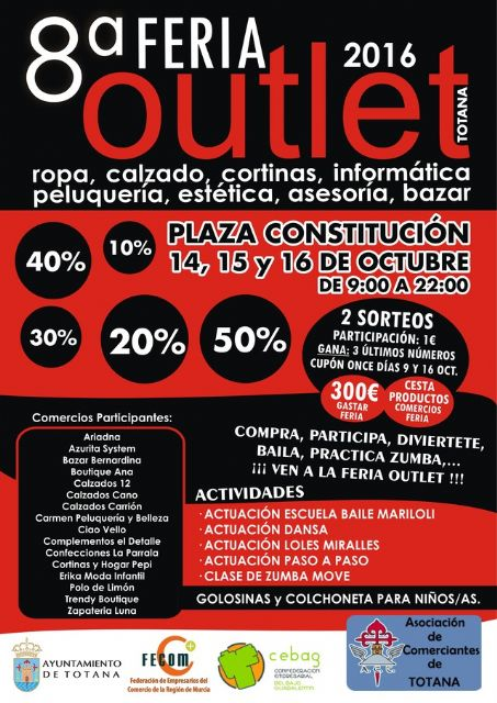 La 8ª Feria Outlet de Totana se celebrará del 13 al 16 de octubre en la Plaza de la Constitución, Foto 4