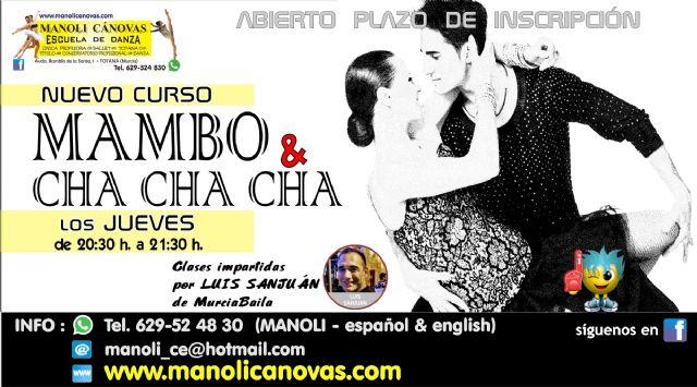 MAMBO y CHA-CHA-CHA, nuevo curso en la Escuela de Danza Manoli Cánovas, Foto 1