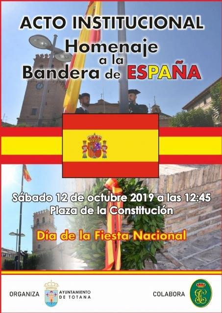 Totana volver� a celebrar el pr�ximo 12 de octubre el acto institucional de homenaje a la Bandera de España coincidiendo con el D�a de la Fiesta Nacional, Foto 4
