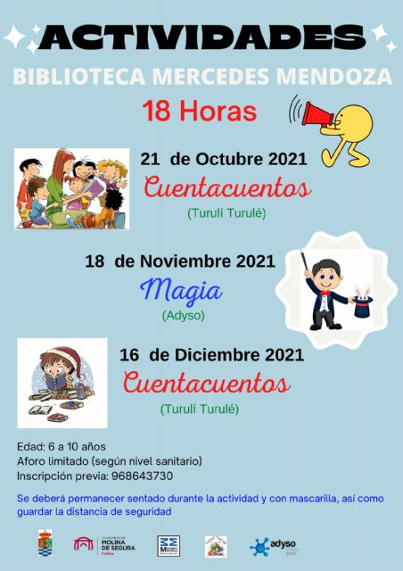 Vuelven las actividades de animación a la lectura en la Red de Bibliotecas de Molina de Segura - 1, Foto 1