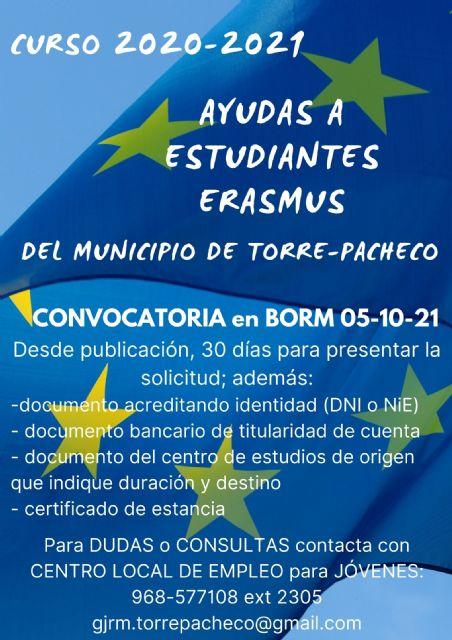 Abierta convocatoria subvenciones complementarias a lasBecas ERASMUS - 1, Foto 1