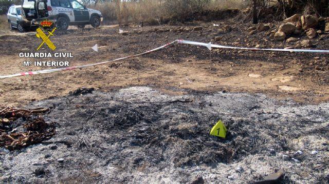La Guardia Civil investiga a una persona  por originar un incendio forestal en Mazarrón - 1, Foto 1