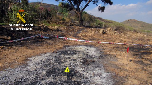 La Guardia Civil investiga a una persona  por originar un incendio forestal en Mazarrón - 2, Foto 2