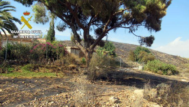 La Guardia Civil investiga a una persona  por originar un incendio forestal en Mazarrón - 3, Foto 3
