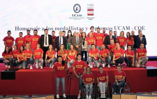 El COE y la UCAM homenajean a sus 23 medallistas y 31 diplomas olímpicos y paralímpicos en Tokio - 1, Foto 1