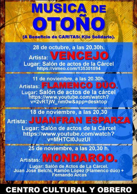 El concierto de Juanfran Esparza será el viernes 18 de noviembre, Foto 1