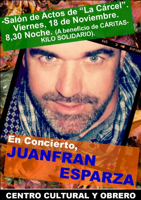 El concierto de Juanfran Esparza será el viernes 18 de noviembre, Foto 2