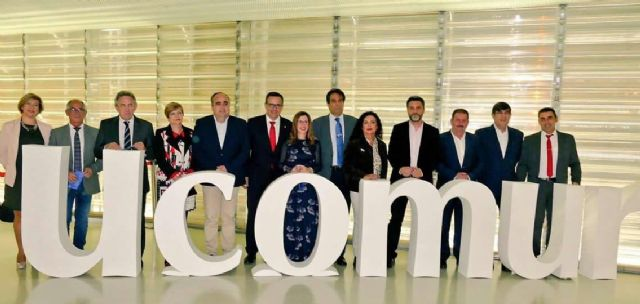 Local officials of the City Council attend the ceremony that celebrates UCOMUR on the occasion of the World Day of Cooperativism, in Cartagena - 1
