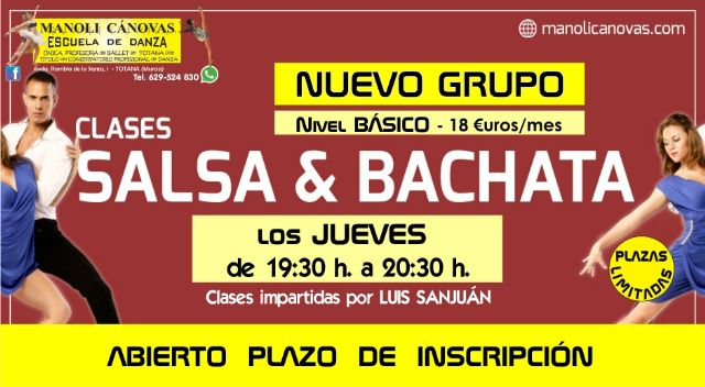 New salsa and sevillanas courses at the Manoli Cánovas Dance School - 1