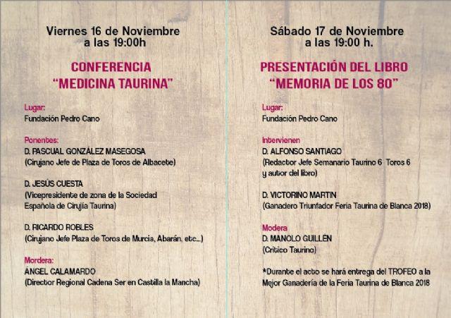 El ayuntamiento de Blanca entregará los premios de la Feria Taurina el 17 de noviembre - 1, Foto 1