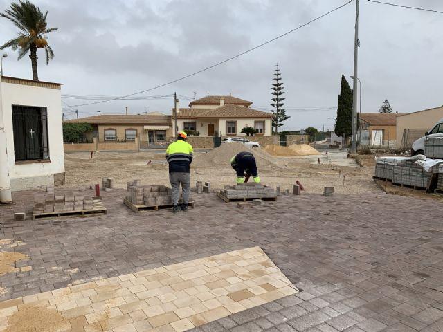 La nueva plaza de Pozo Aledo estará finalizada en un mes - 3, Foto 3