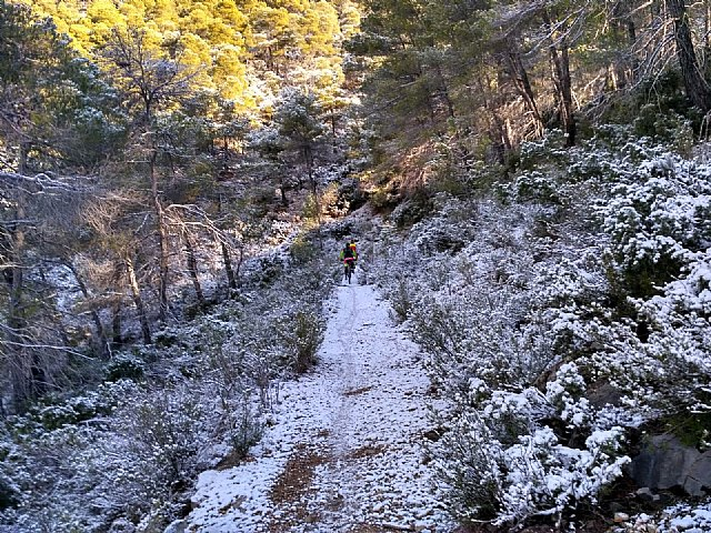 The first snow falls this year in Sierra Espuña - 1