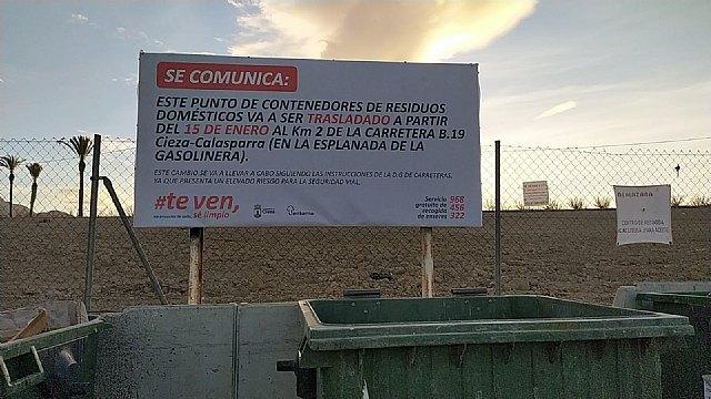 Economía circular informa de que se van a trasladar los contenedores de residuos domésticos del cruce de La Parra - 1, Foto 1