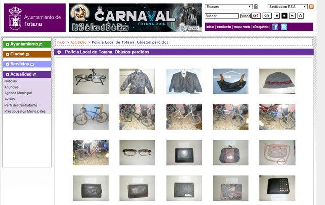 La Policía Local registró en 2015 un total de 208 objetos perdidos, Foto 1