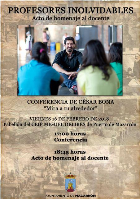Los docentes jubilados de Mazarrón recibirán un homenaje tras una conferencia de César Bona, Foto 2