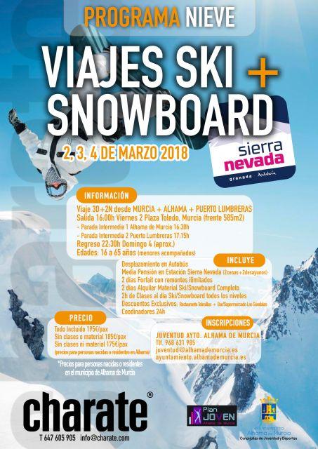 Nuevos viajes a Sierra Nevada para practicar esquí y snowboard, Foto 2