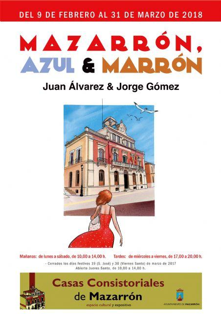 Los ilustradores Juan Álvarez y Jorge Gómez dedican a Mazarrón su última exposición, Foto 1