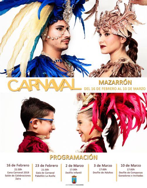 Más de 2.000 comparsistas se darán cita en las calles de Mazarrón para disfrutar de su carnaval, Foto 2