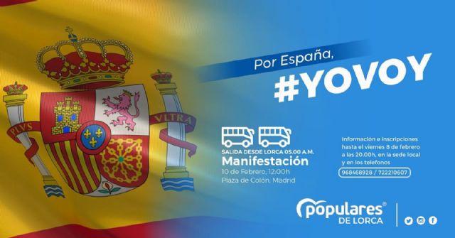 El Partido Popular de Lorca pondrá autobuses gratuitos para todos los lorquinos que quieran apoyar la manifestación del domingo a favor de España y el orden constitucional - 1, Foto 1