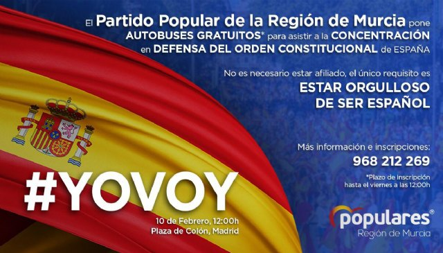 El PP hace un llamamiento a la sociedad murciana para que acuda a la concentración en Madrid para devolver el orden Constitucional en Cataluña, Foto 2