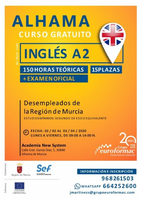 Curso de inglés para desempleados, nivel A2, Foto 1