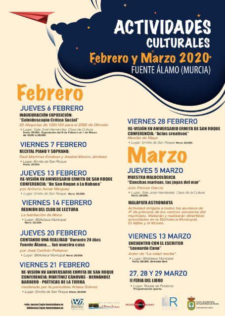 Fuente Álamo da a conocer el programa cultural para los meses de febrero y marzo de 2020 - 1, Foto 1