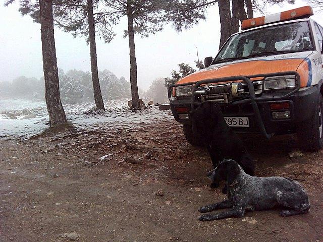 Las primeras nieves del invierno llegan a las cotas más altas del parque regional de Sierra Espuña, Foto 5