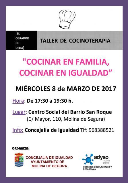 La Concejalía de Igualdad de Molina de Segura organiza la primera edición de Tu Barrio en Igualdad el miércoles 8 de marzo - 1, Foto 1