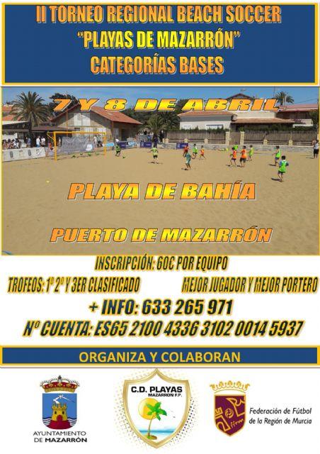 La playa de Bahía acogerá el II torneo regional beach soccer