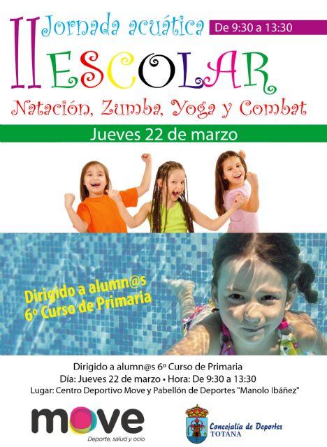 Deportes y MOVE organizan la II Jornada Acuática Escolar el próximo 22 de marzo, Foto 3