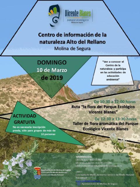 Las plantas aromáticas y sus usos tradicionales centran las actividades en el Centro de Información de la Naturaleza Alto del Rellano de Molina de Segura el domingo 10 de marzo - 1, Foto 1