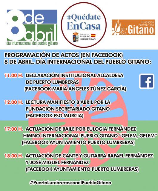 El Ayuntamiento de Puerto Lumbreras junto a la Fundación Secretariado Gitano celebran el Día Internacional del Pueblo Gitano con varias actividades a través de Facebook - 1, Foto 1