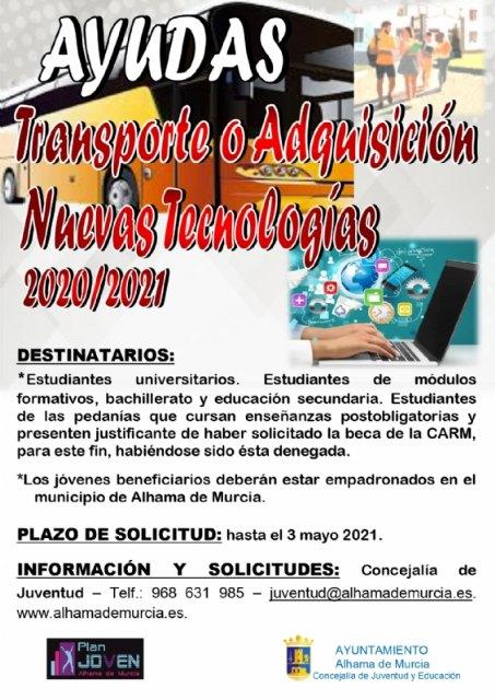 Ayudas de transporte y adquisición de nuevas tecnologías para estudiantes y universitarios del curso 2020-2021 - 1, Foto 1