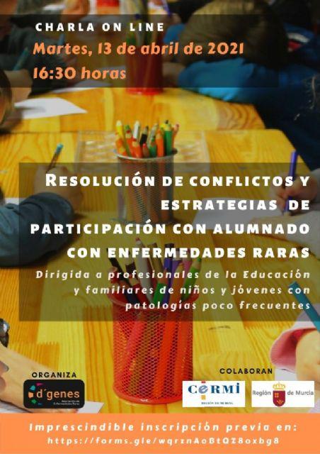 D´Genes impartirá una charla sobre resolución de conflictos y estrategias de participación con alumnado con enfermedades raras - 1, Foto 1