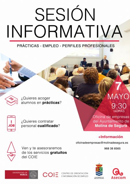 El Ayuntamiento de Molina de Segura organiza una sesión informativa conjunta entre el COIE y el SEF para asesoramiento a empresas - 1, Foto 1