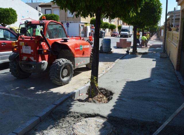El plan de renovación urbana de Las Torres de Cotillas trabaja ya en las aceras de la avenida Juan Carlos I - 3, Foto 3