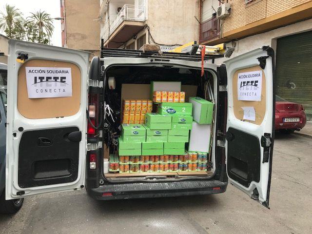 Itete Conecta ha donado 6.000 productos de material de limpieza y alimentos a familias con escasos recursos de Murcia - 1, Foto 1