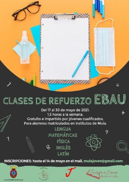 Las concejalías de Juventud y Educación junto al Consejo Local de la Juventud ponen en marcha por segundo año las Clases de Refuerzo EBAU - 1, Foto 1