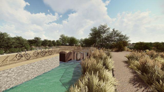 La construcción de un mirador-escenario sobre la Aljufía convertirá el Molino de la Pólvora y su entorno en un atractivo paraje de disfrute ciudadano - 1, Foto 1
