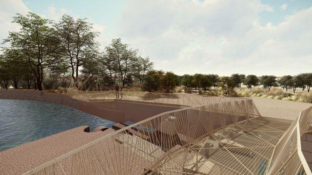 La construcción de un mirador-escenario sobre la Aljufía convertirá el Molino de la Pólvora y su entorno en un atractivo paraje de disfrute ciudadano - 3, Foto 3