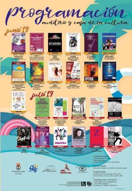 Cultura da a conocer la programación para los meses de junio y julio - 1, Foto 1