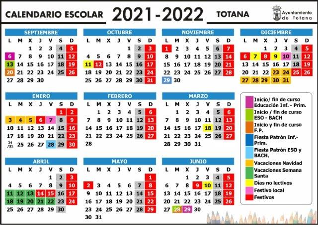 [El curso escolar 2021/22 en Totana comenzará en Educación Infantil y Primaria el 6 de septiembre