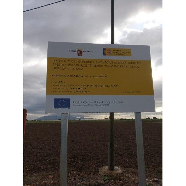Comienzan las obras de arreglo de los caminos rurales de La Barquilla y desde la carretera de Mazarrón hasta el paraje de la Casa del Trini - 3, Foto 3