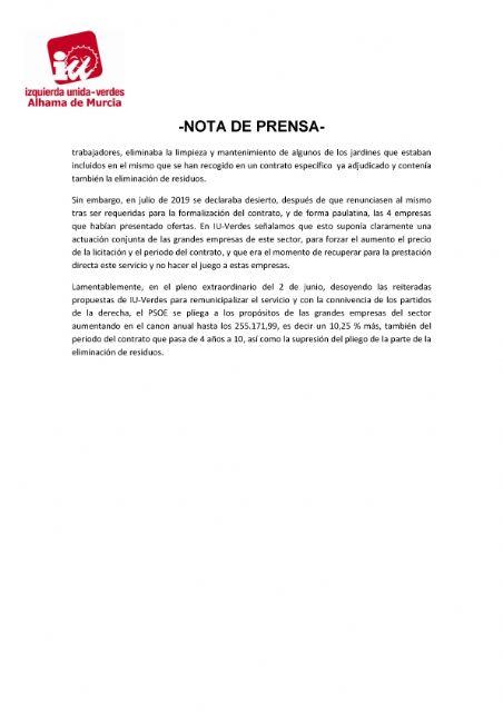 Valoración del Pleno Ordinario del 2 de junio de 2021. IU-verdes - 2, Foto 2
